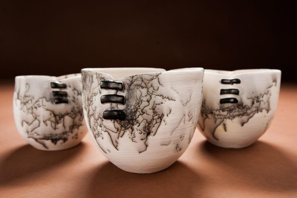 Three HorseHair Bowls