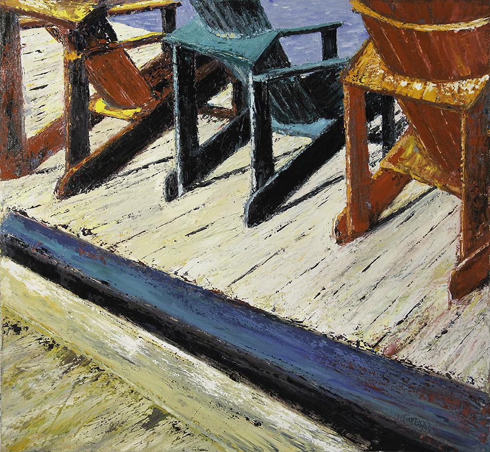 Hickory Dickory Dock 36x36 - A3092